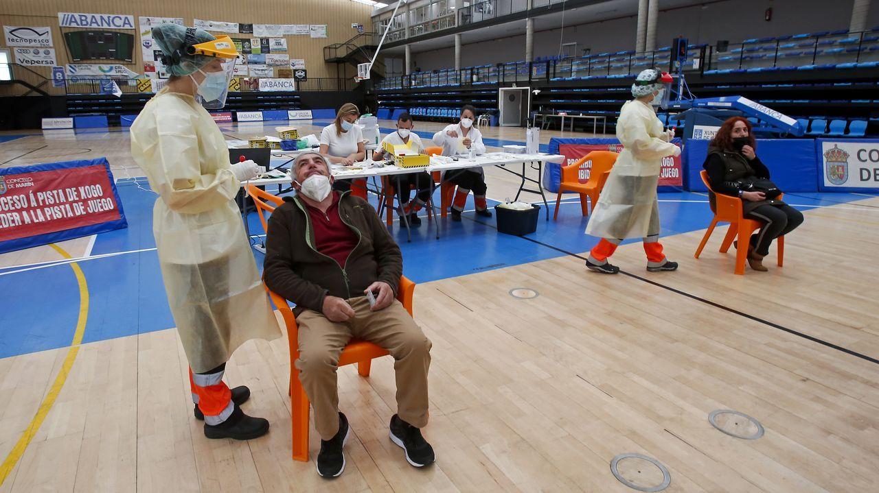 El cribado para personas de 50 a 64 años que concluye este viernes en el pabellón de A Raña, en Marín