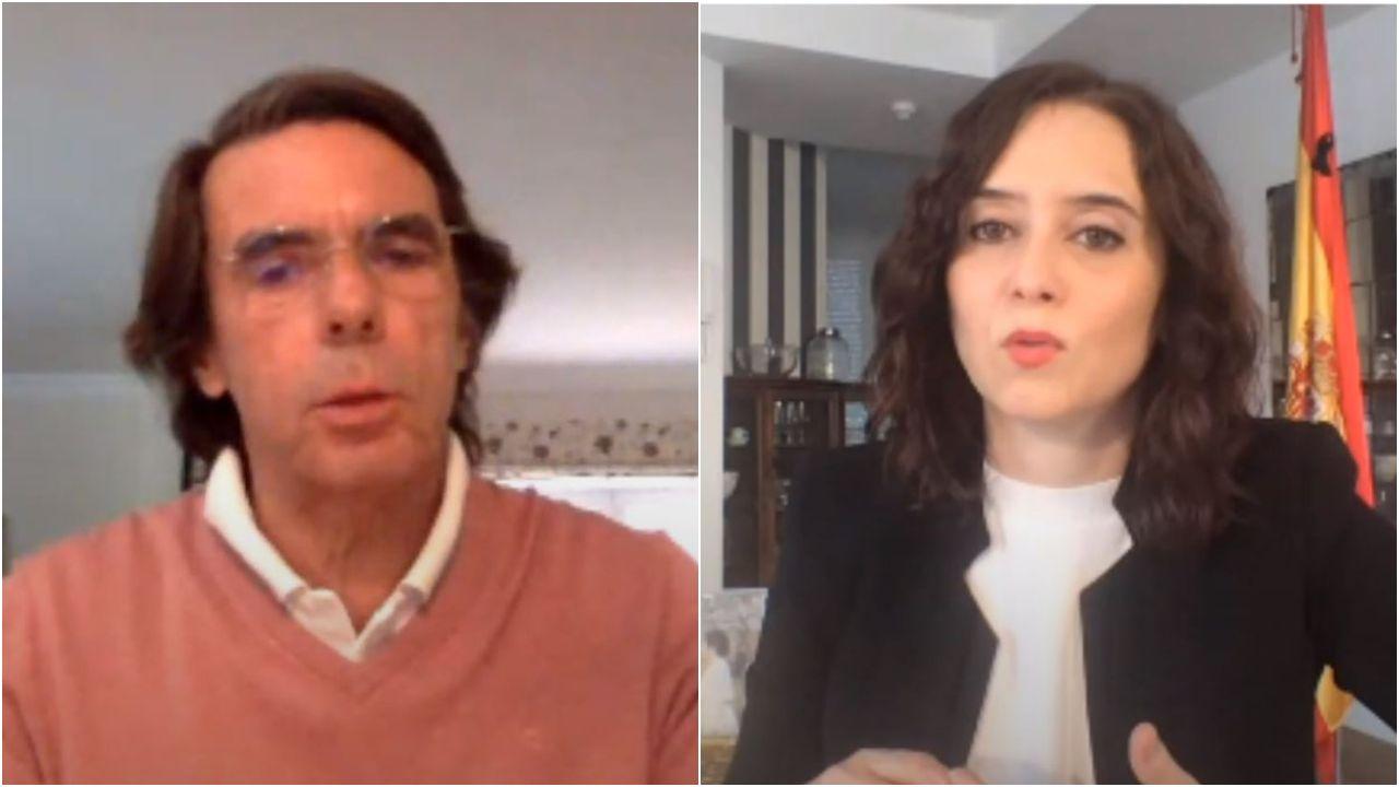Aznar defiende a Ayuso: «En esta historia muchos van a ocupar una página en negro, pero las tuyas saldrán en blanco».El presidente de la Asamblea venezolana, Juan Guaidó, el pasado 17 de junio, en Caracas