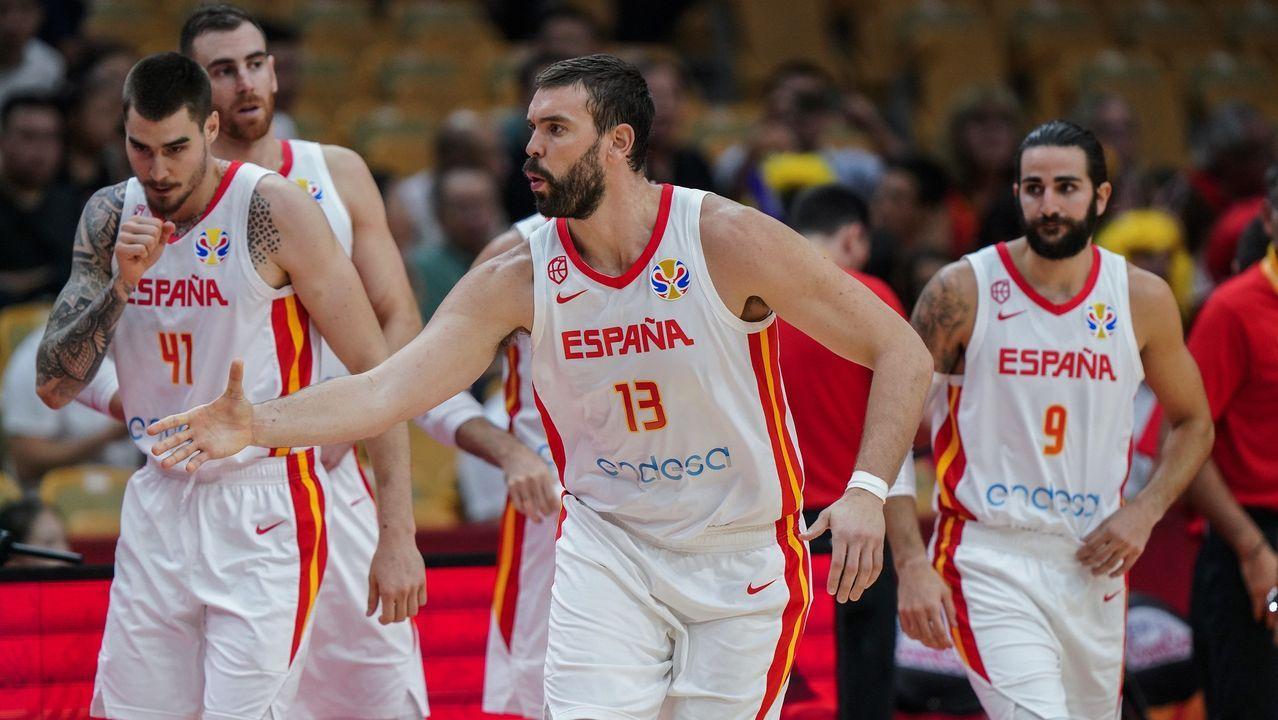 Las imágenes de la semifinal entre España y Australia