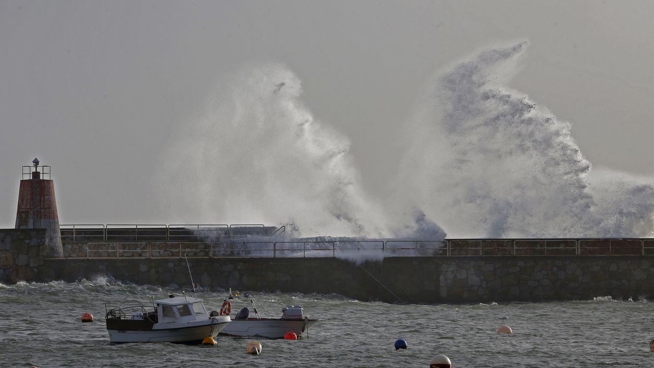 ¡Mira aquí las imágenes del temporal en Barbanza!