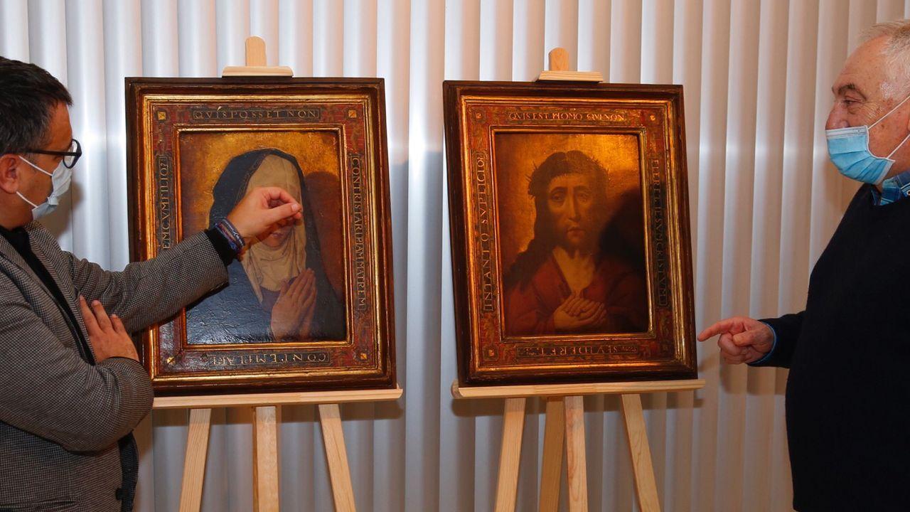 La dolorosa y el eccehomo del pintor flamenco Dieric Bouts formaban parte de un díptico