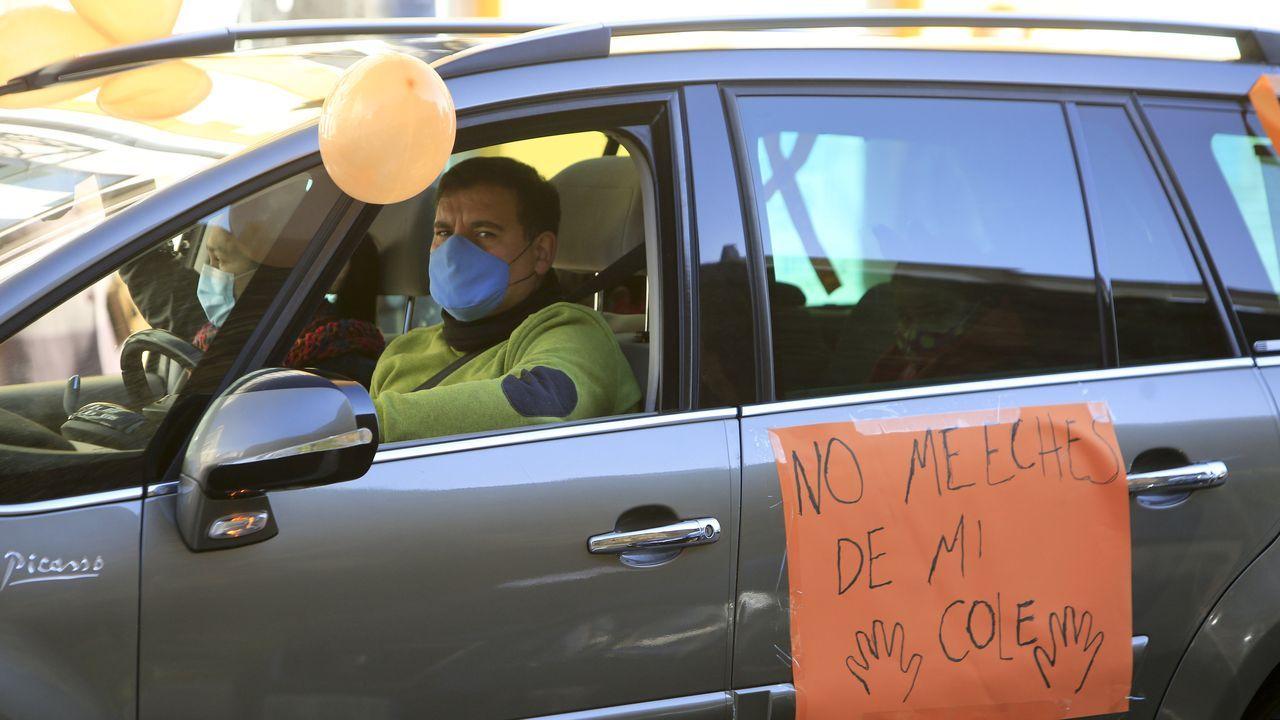Un manifestante contra la ley Celaá en Lugo