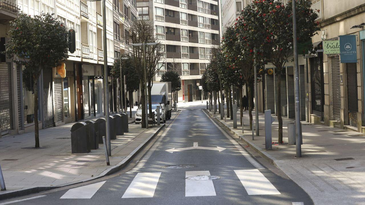 Santiago desierto por el estado de alarma