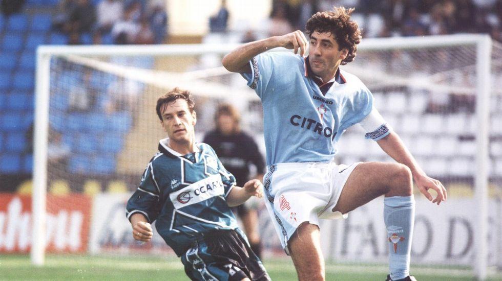 Patxi Salinas, en un partido de la temporada 1996/1997.