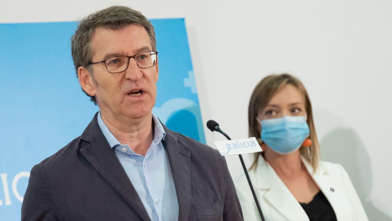 Núñez Feijoo: «Cumprimos todos os requisitos para deixar sen efecto o estado de alarma».Tellado reconoce que la encuesta no se hizo en el mejor momento para su partido
