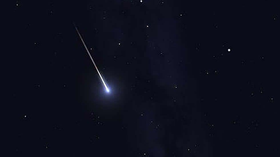 Fotografía de archivo que muestra un meteorito
