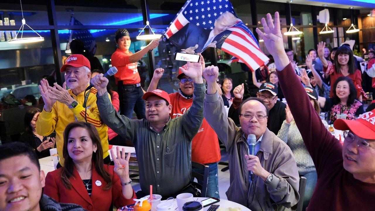 Vietnamitas americanos seguidores de Trump en Houston, Texas