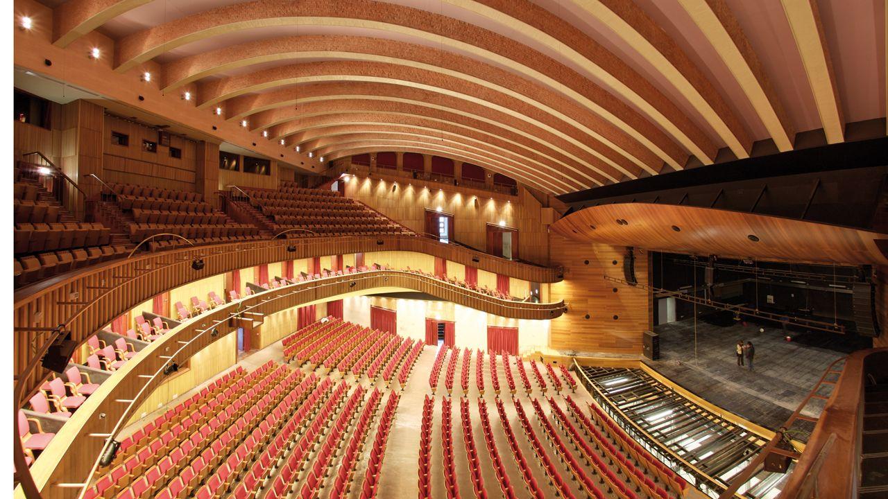 Interior del teatro de la Laboral