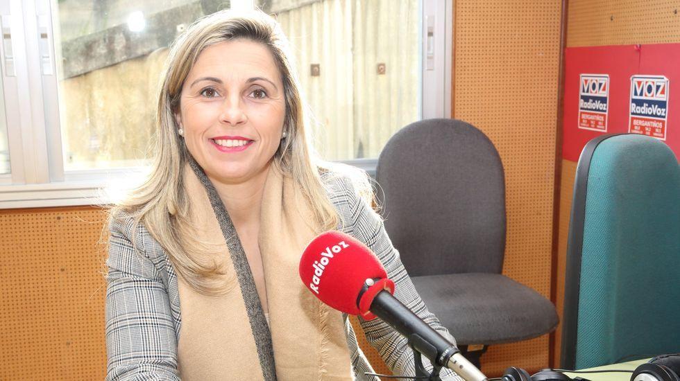Mónica Rodríguez, en una visita a Radio Voz, antes de la pandemia