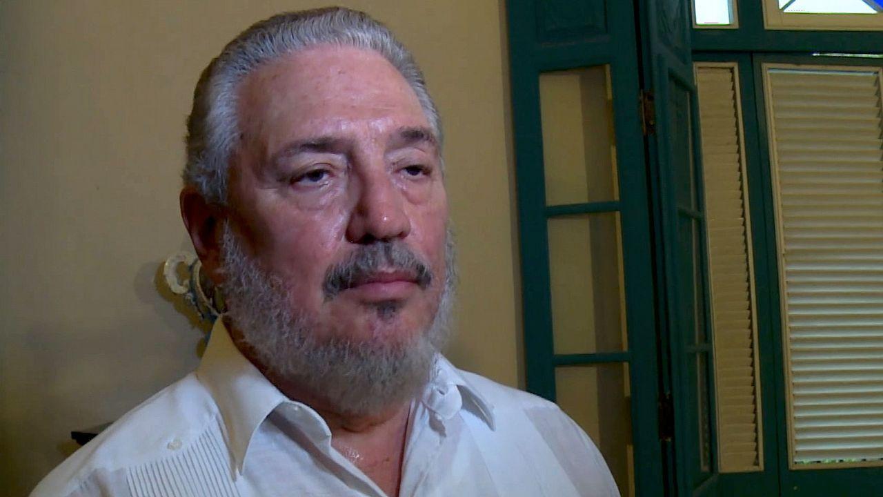 Huellas de la emigración asturiana en Latinoamérica.Fidel Castro hijo, en una imagen de archivo