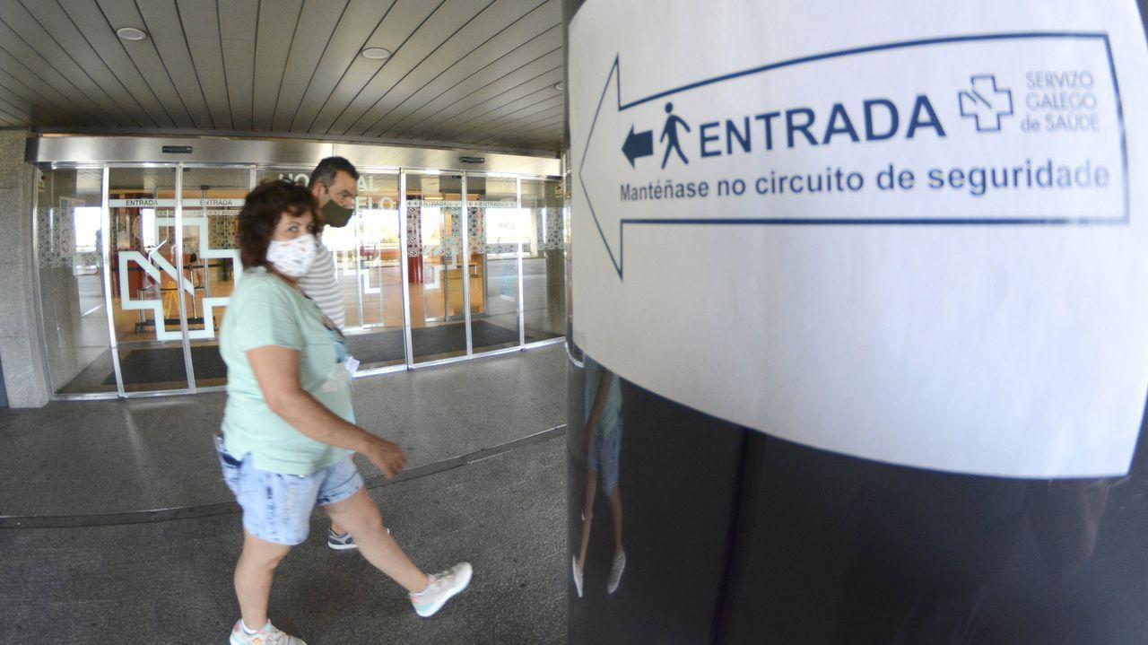 Seis pacientes de coronavirus siguen ingresados en el Hospital Montecelo, de Pontevedra, cuatro en planta y dos graves en la uci