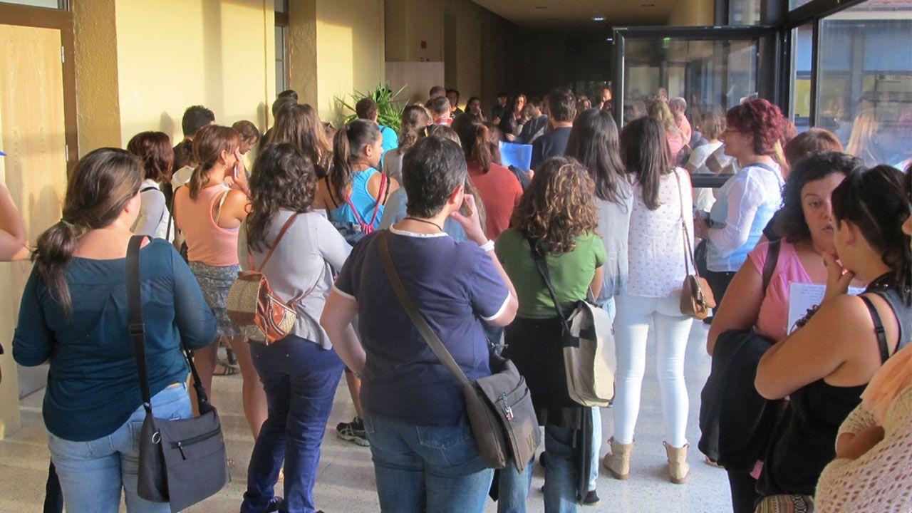 Aspirantes a una convocatoria de los planes de empleo del Ayuntamiento de Gijón