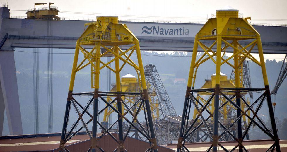 Navantia fabrica en estos momentos 29 estructuras para el parque eólico marino de Wikinger, en Alemania.