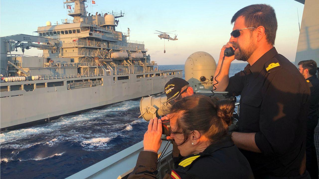 Actividad física de la dotación a bordo de la Álvaro de Bazán