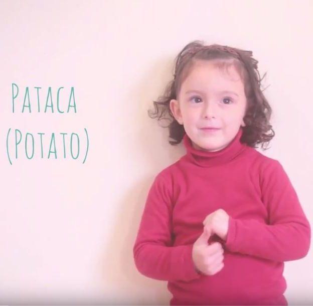 En el vídeo trabajan el vocabulario ecológico con lengua de signos.