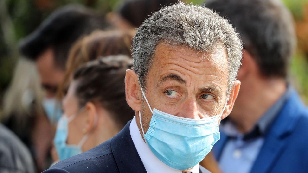 Nicolas Sarkozy, este lunes, en los juzgados