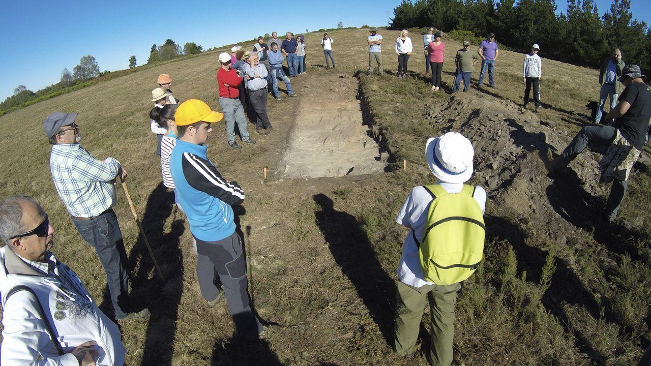 Excavación del campamento romano de Penaparda, en A Fonsagrada