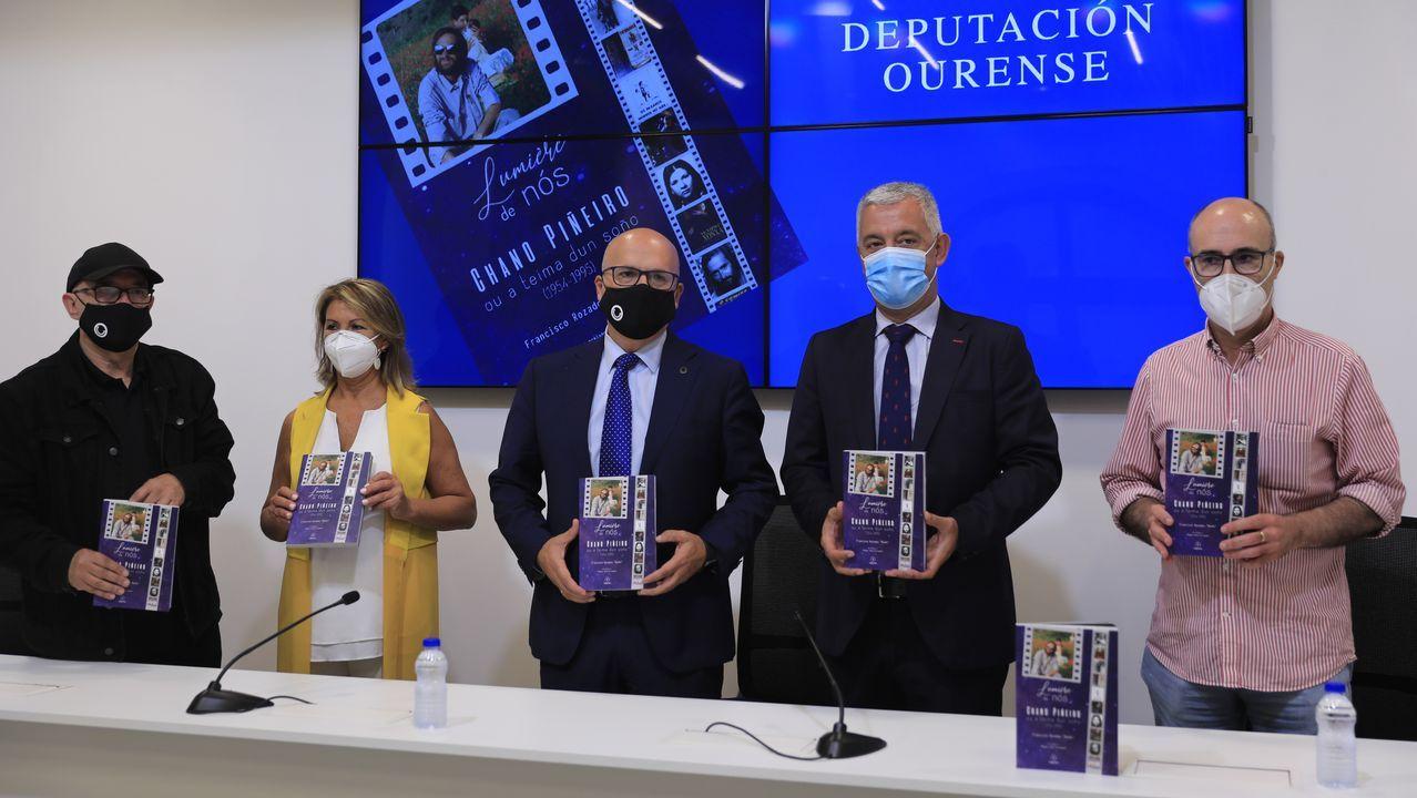 Ovido Rodeiro, Marta Fernández-Tapias y Luisa Piñeiro