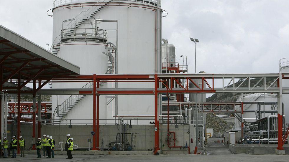 Inauguración de la planta de biodiésel de Infinita en el puerto de Ferrol