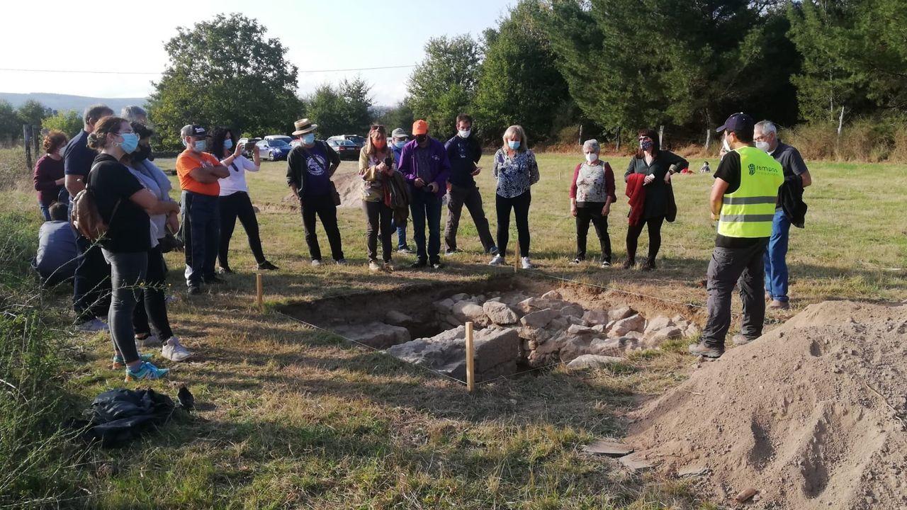Hallazgos arqueológicos romanos en el rural lucense.A exposición está instalada no centro sociocultural de Sober