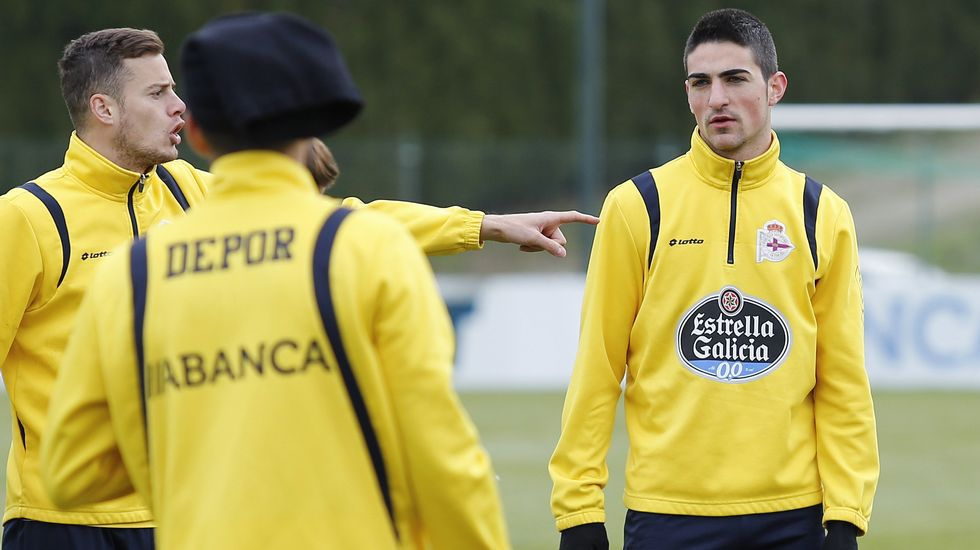 Borja, durante un entrenamiento