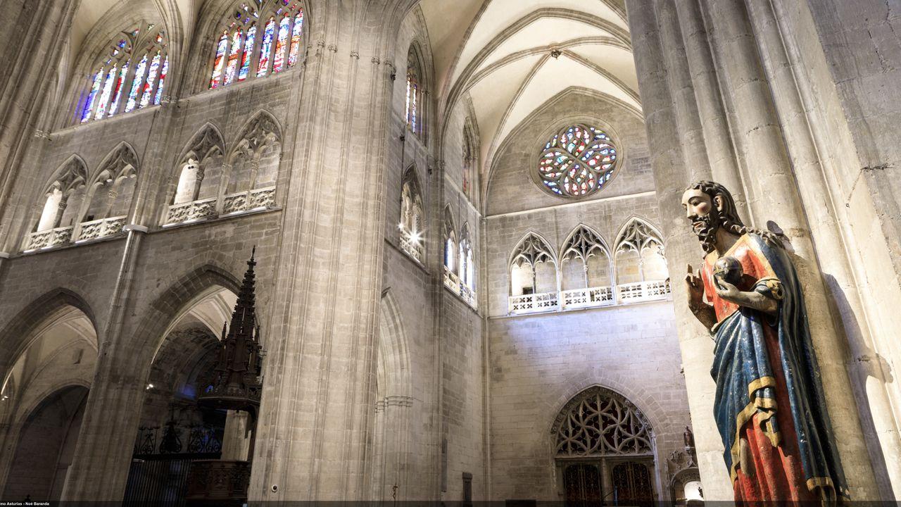 Interior de la Catedral de San Salvador, en Oviedo