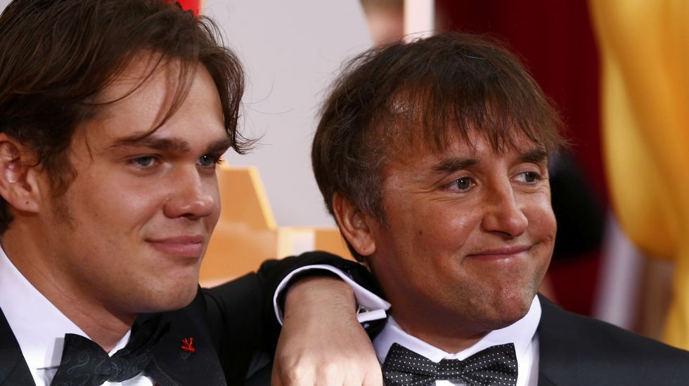 Ellar Coltrane con el director Richard Linklater