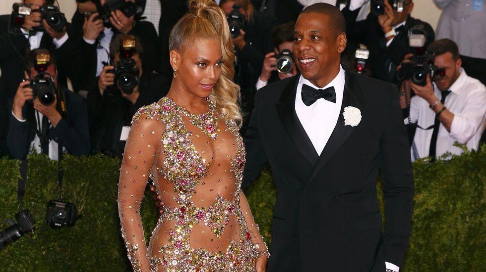 Beyoncé, espectacular con un vestido que dejaba poco lugar a la imaginación.