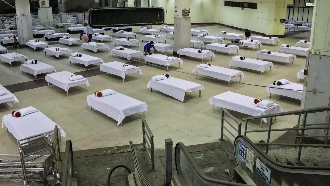 En el aeropuerto de Calcuta se ha habilitado una zona para los viajeros que deban cumplir la cuarentena