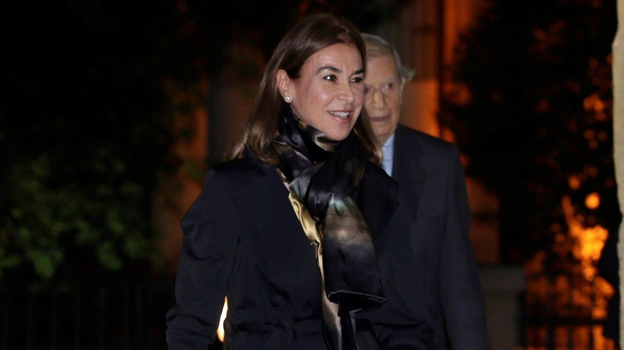 La escritora Carmen Posadas asiste este miércoles al funeral del empresario Plácido Arango, fallecido el pasado 17 de febrero a los 88 años. EFE/JUANJO MARTÍN