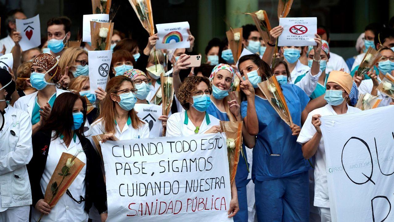 Profesionales sanitarios del Clínic de Barcelona, donde se hizo el estudio