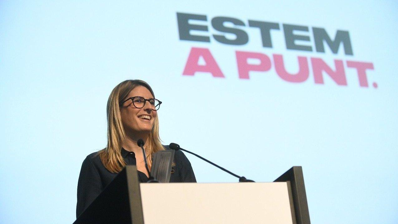 La vicepresidenta de JxCat y diputada en el Parlament, Elsa Artadi