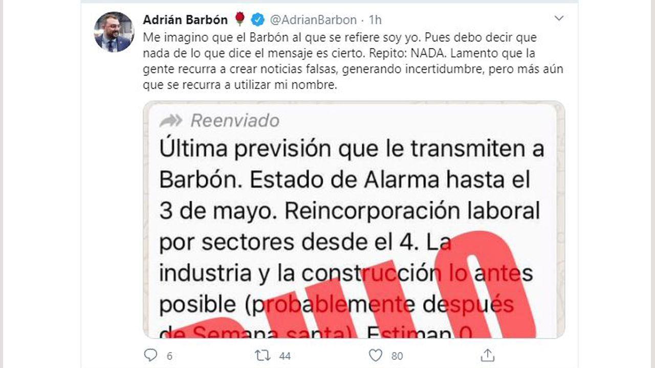 El presidente asturiano Adrián Barbón