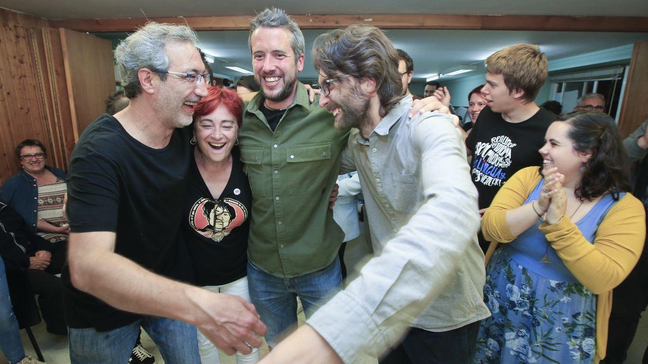 Los concejales electos del BNG en Lugo, con Rubén Arroxo a la cabeza