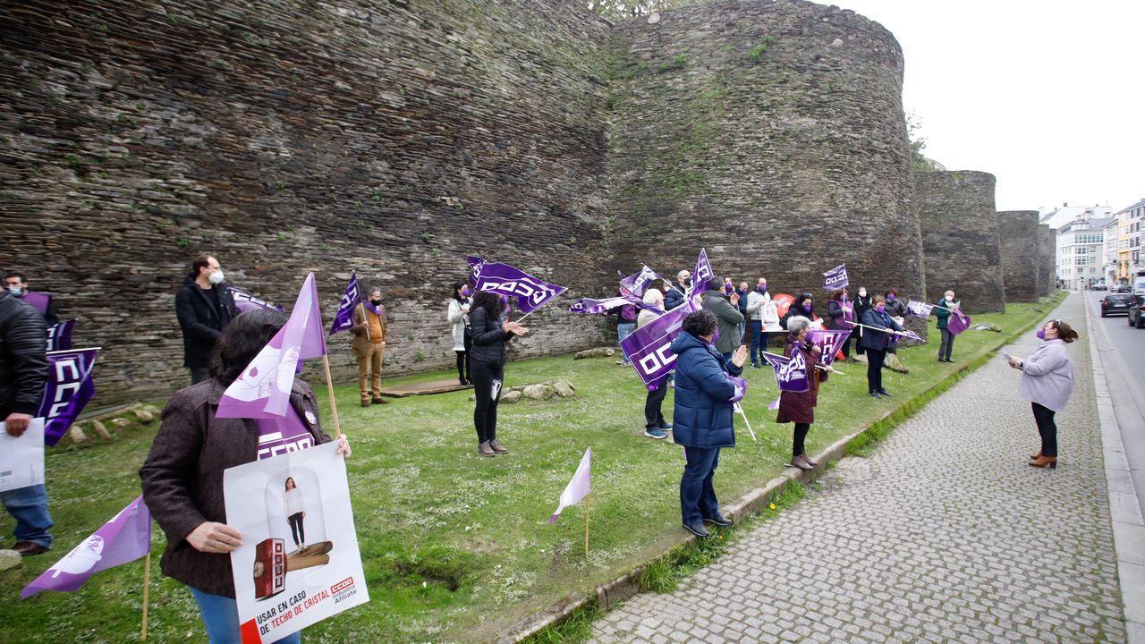 Concentración en la Ronda da Muralla, en Lugo