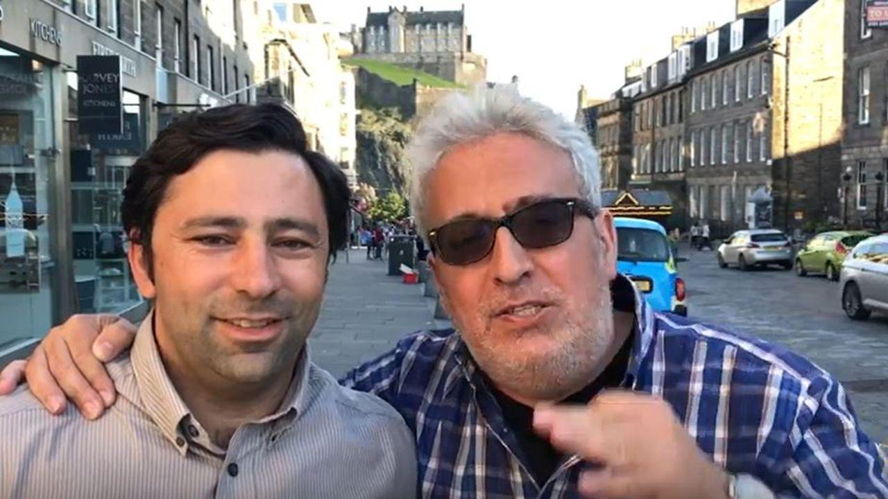 Benjamín Suárez junto con Leo Harlem, uno de los famosos que ha utilizado el servicio de Escocia Tursimo