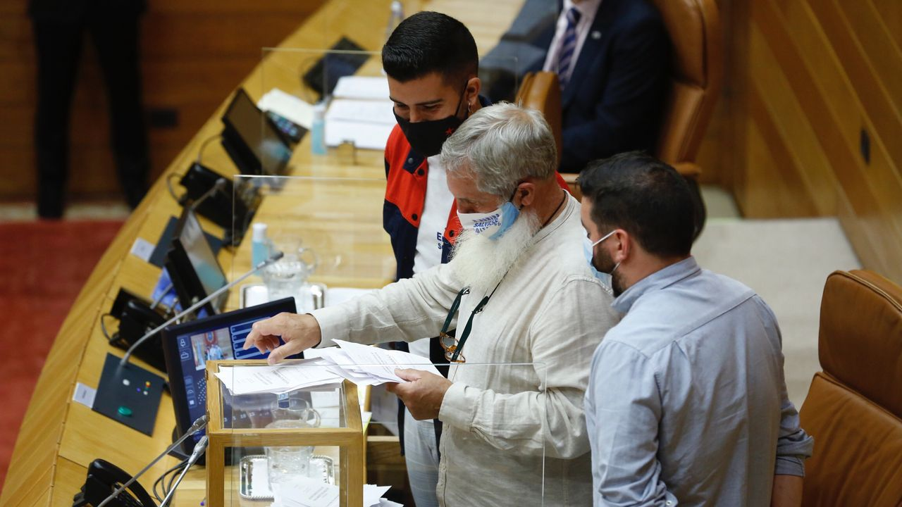 En directo: La sesión constitutiva del Parlamento gallego.Debido a las medidas anticovid, no se ha permitido la asistencia de invitados que puedan presenciar la sesión consitutiva