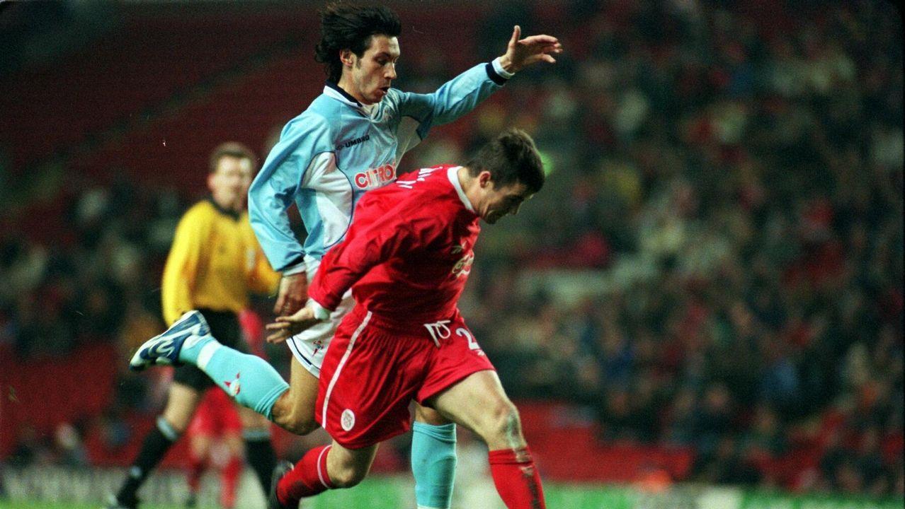 Eliminatoria frente al Liverpool en 1998