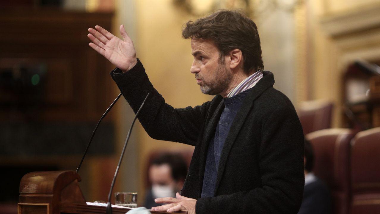 El presidente del grupo parlamentario de Unidas Podemos y líder de En Comú Podem -ECP-, Jaume Asens
