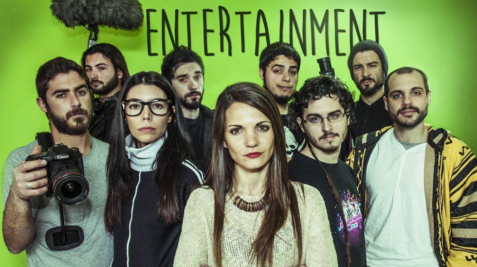 Carballo InterPlay.Regueira, Ferrero, Méndez, Daura y Navarro (Venga Monjas) y Segura y Sáinz (Malviviendo), durante el acto inaugural de ayer.
