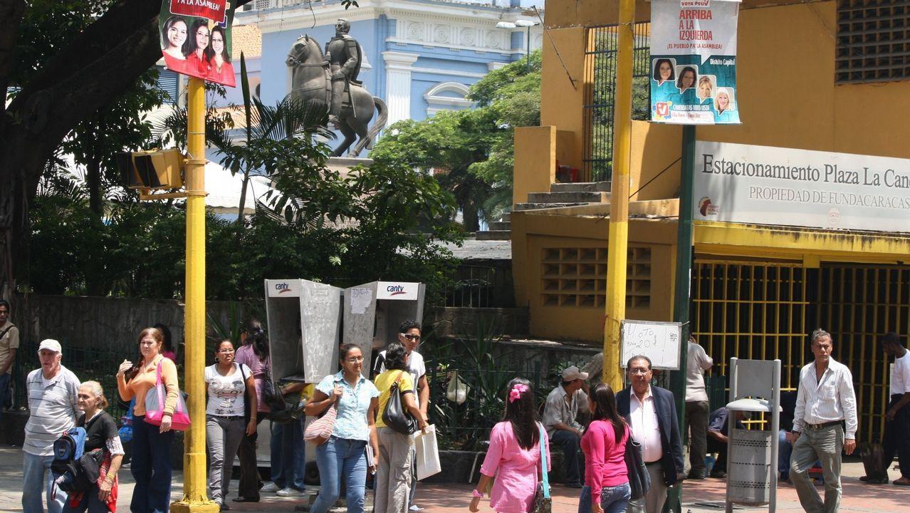 Plaza de la Candelaria en Caracas, zona donde viven muchos gallegos