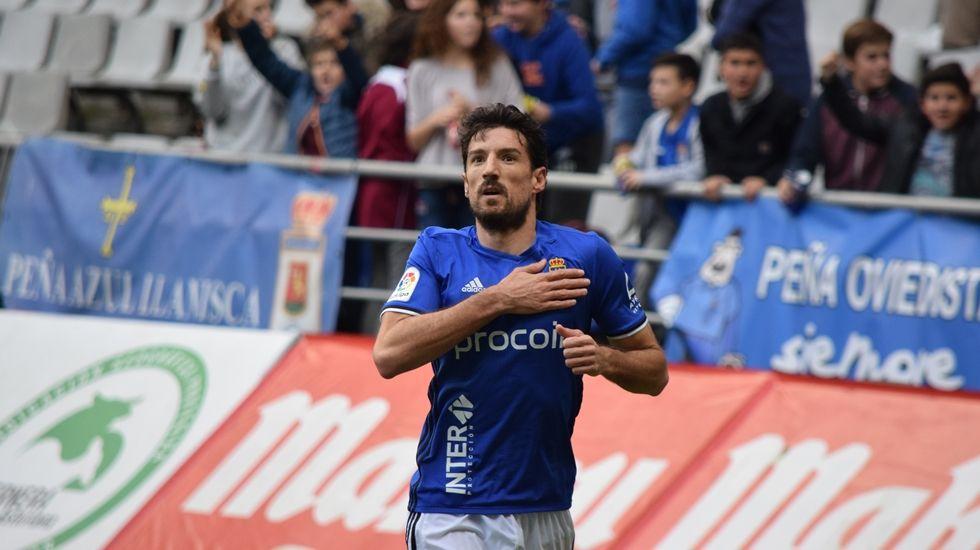 Toché celebra su gol ante el Nástic