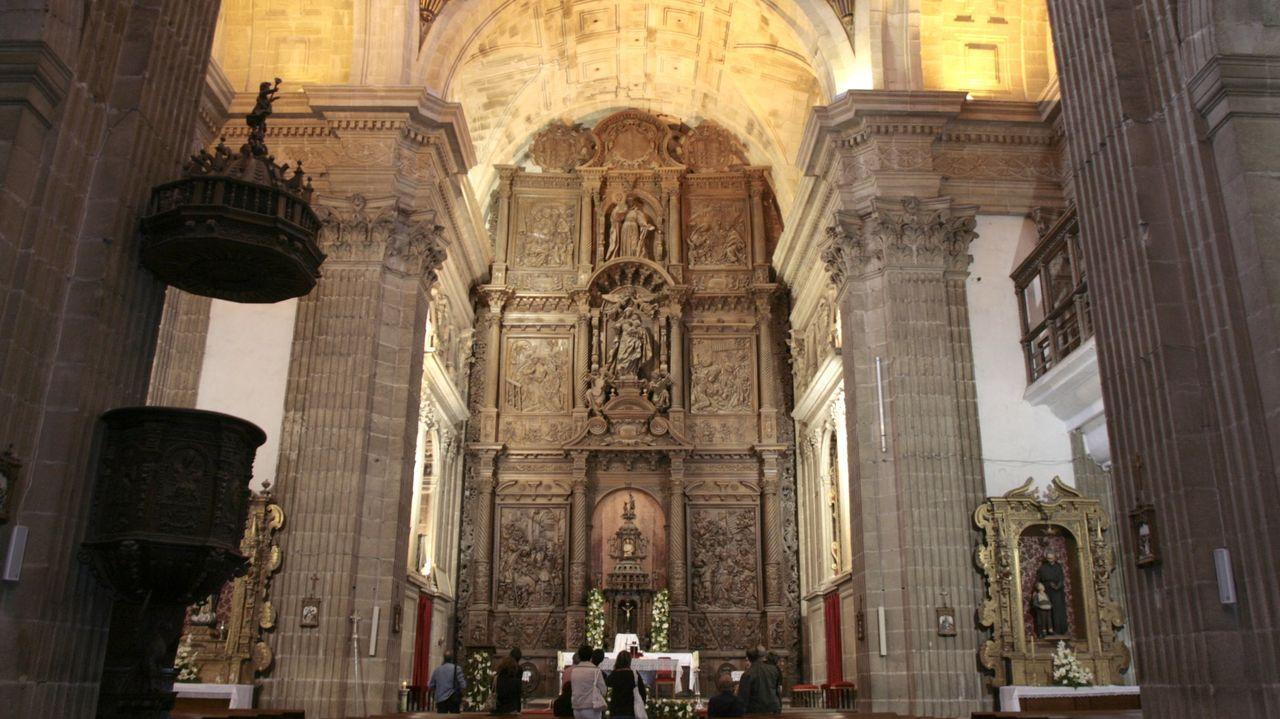 Para llevar a cabo las obras será necesario levantar un andamio de grandes dimensiones ante el célebre retablo mayor de Francisco de Moure