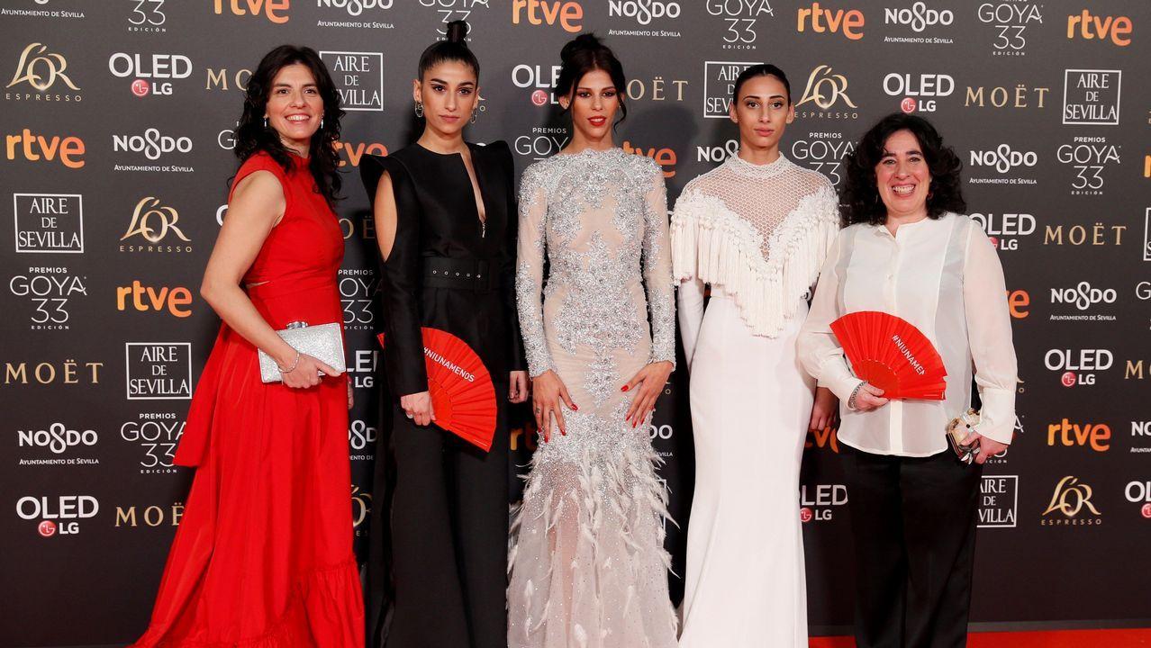 Las actrices Rosy Rodríguez, Zaira Romero y Carolina Yuste, de «Carmen y Lola»