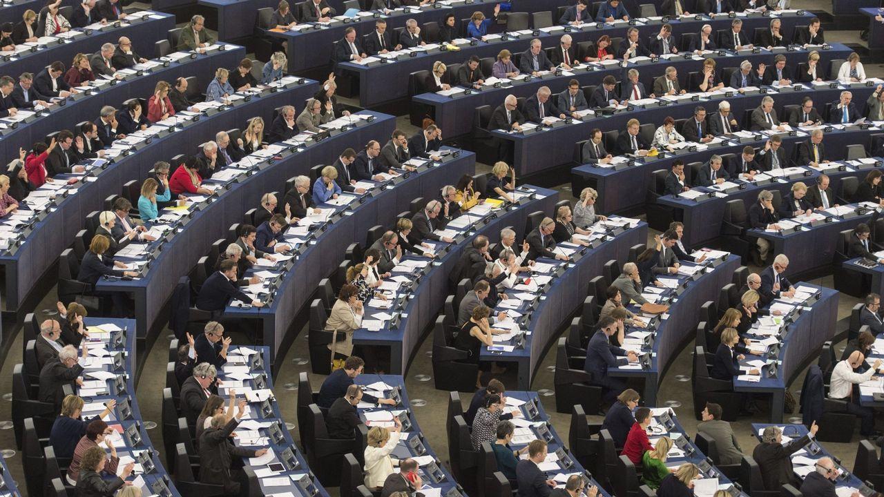 Ortega Smith: «Sin las Navas de Tolosa, sin la Batalla de Lepanto y sin Carlos V, las señoras de esta sala vestirían el burka».Vista general de la Eurocámara durante una sesión plenaria