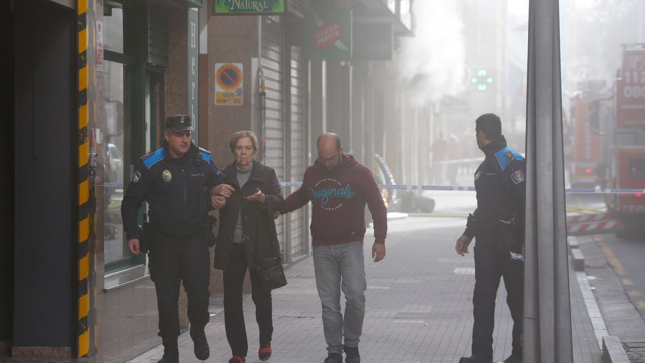 Incendio de un local chino en la calle Peregrina