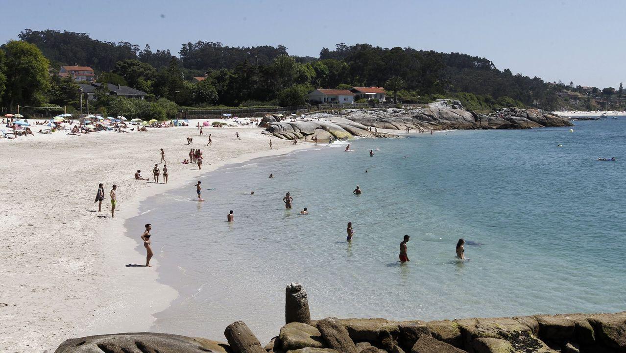 Playa de Menduíña, Cangas