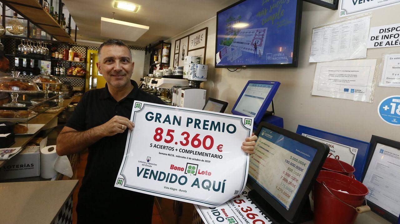 En la cafetería Vista Alegre de Burela ya había tocado un premio importante de la bonoloto, en imagen de archivo