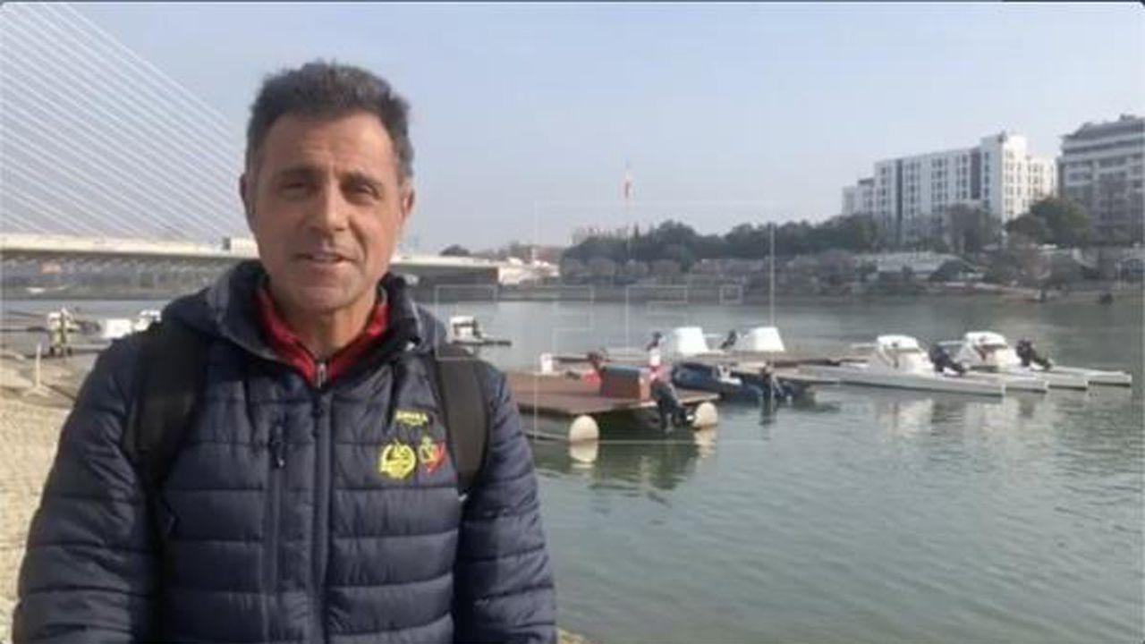 Miguel García, técnico nacional de piragüismo