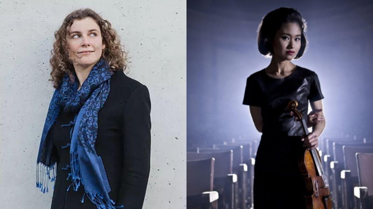 La directora alemana Corinna Niemeyer y la violinista japonesa Sayaka Shoji